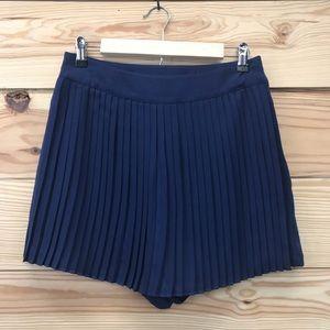 LC Lauren Conrad Skort Skirt Shorts Blue Pleated